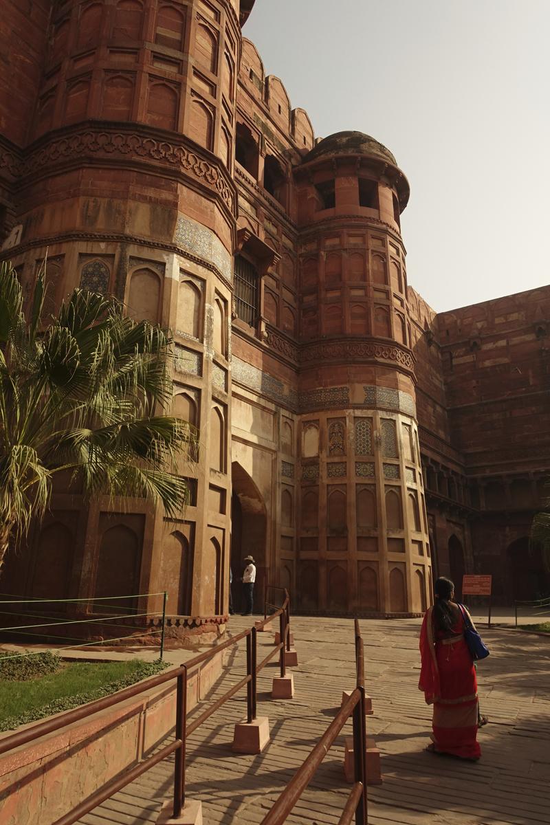 Mon voyage à Agra en Inde Fort rouge