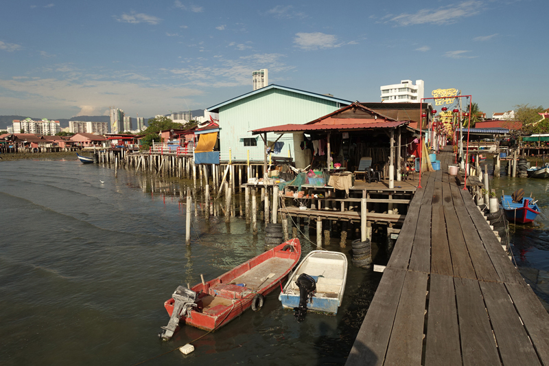 Les Jetties à George Town sur l'île de Penang en Malaisie