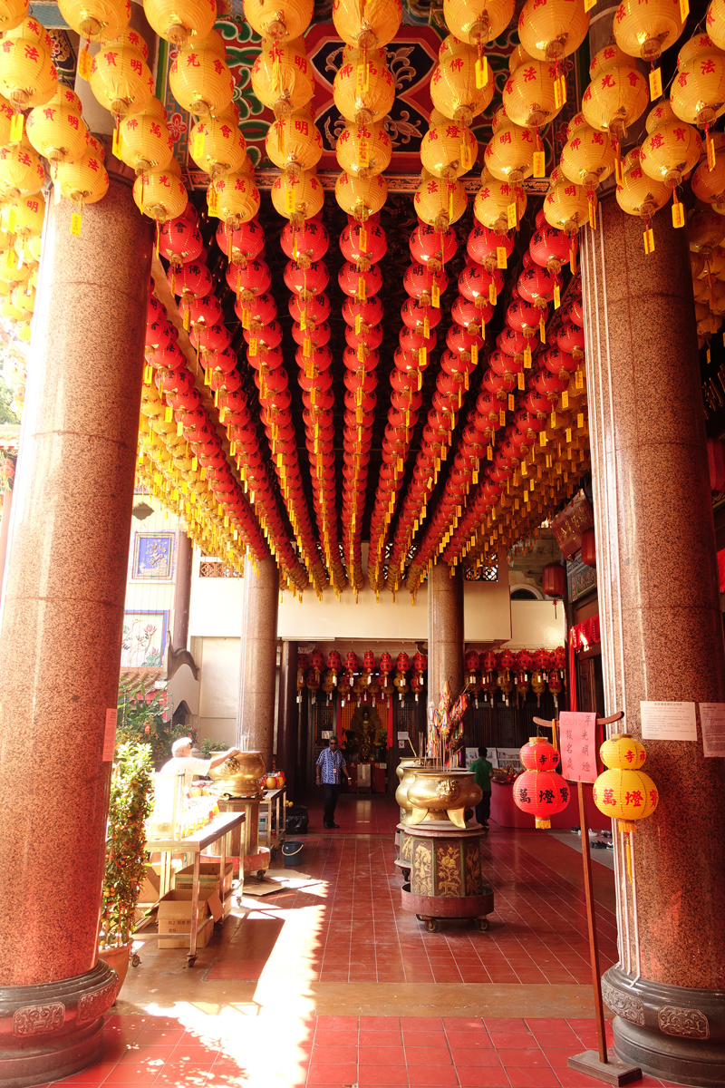 Temple Kek Lok Si à George Town sur l'île de Penang en Malaisie