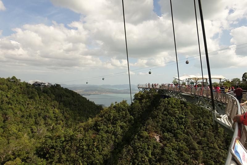 Mon voyage à Car Cable - Sky Bridge sur l'île de Langkawi en Malaisie