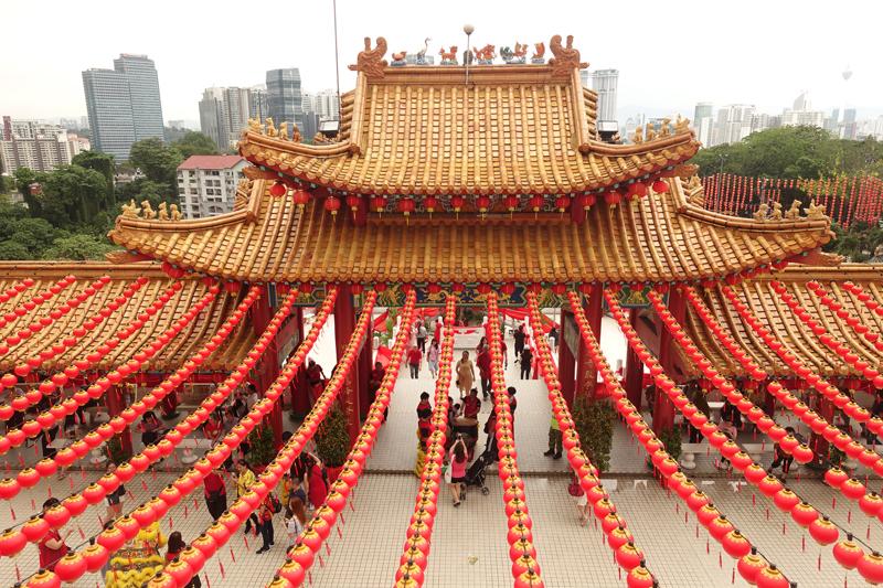 Mon voyage au Temple Thean Hou à Kuala Lumpur en Malaisie