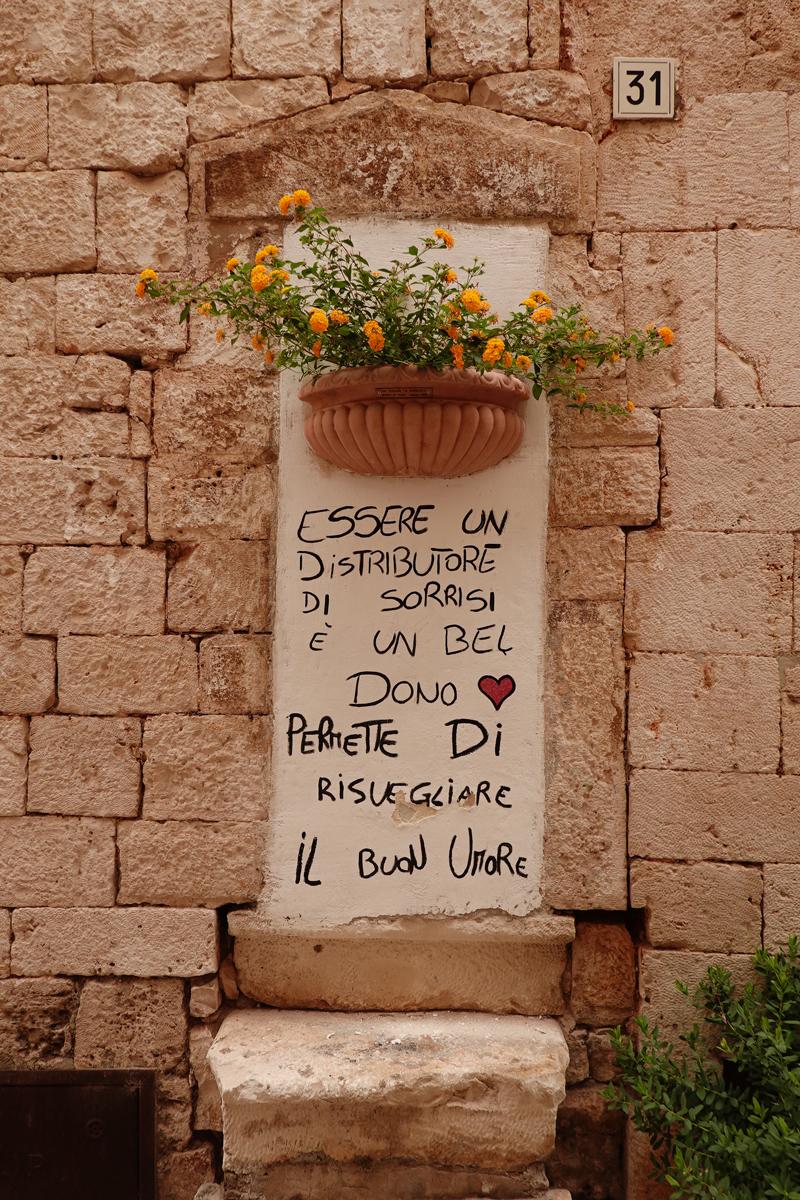 Mon voyage à Putignano dans les Pouilles en Italie