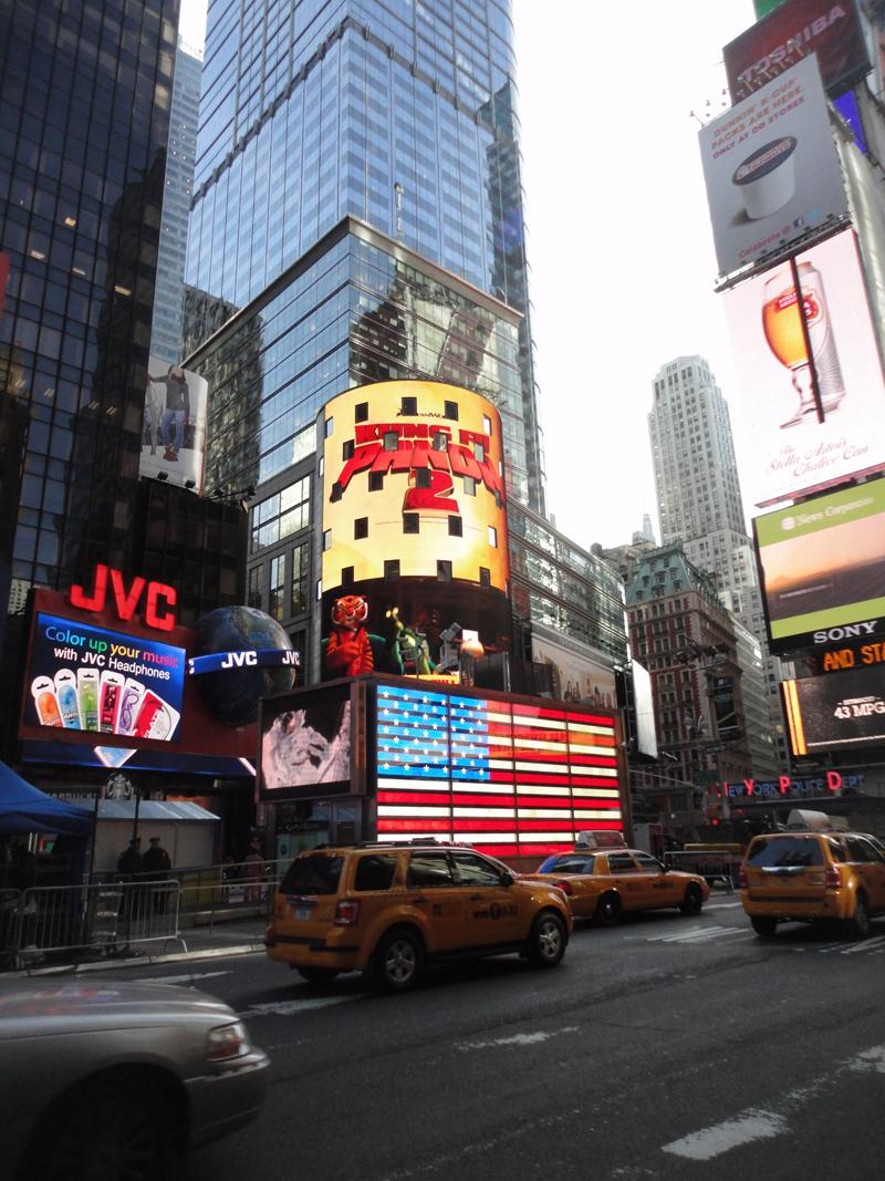 Mon voyage à New York à Times Square
