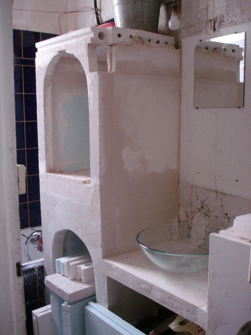 Première étape des travaux de ma salle de bain