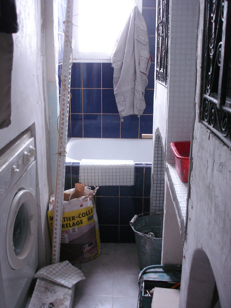 Seconde étape des travaux de ma salle de bain