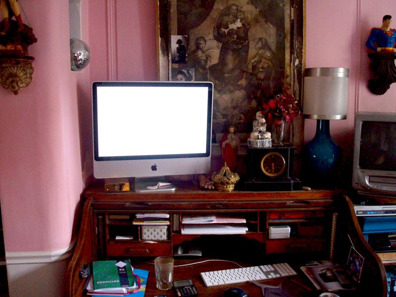 Mon atelier en Avril 2008