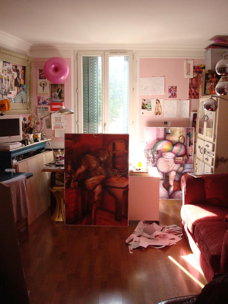 Mon atelier en ce moment