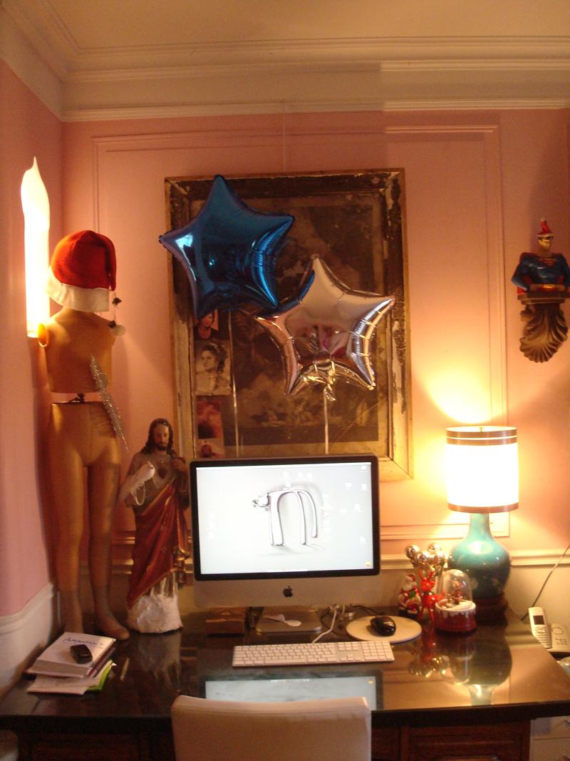 Mon atelier aux couleurs de Noël