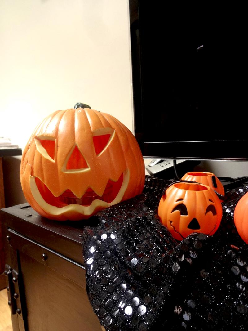 Décoration et soirée d'Halloween de mon atelier