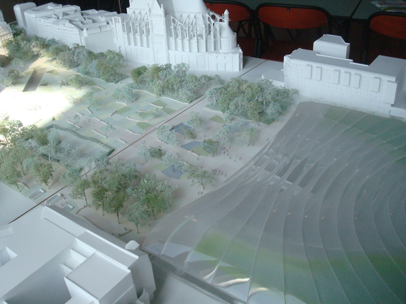 La maquette des travaux du Forum des Halles