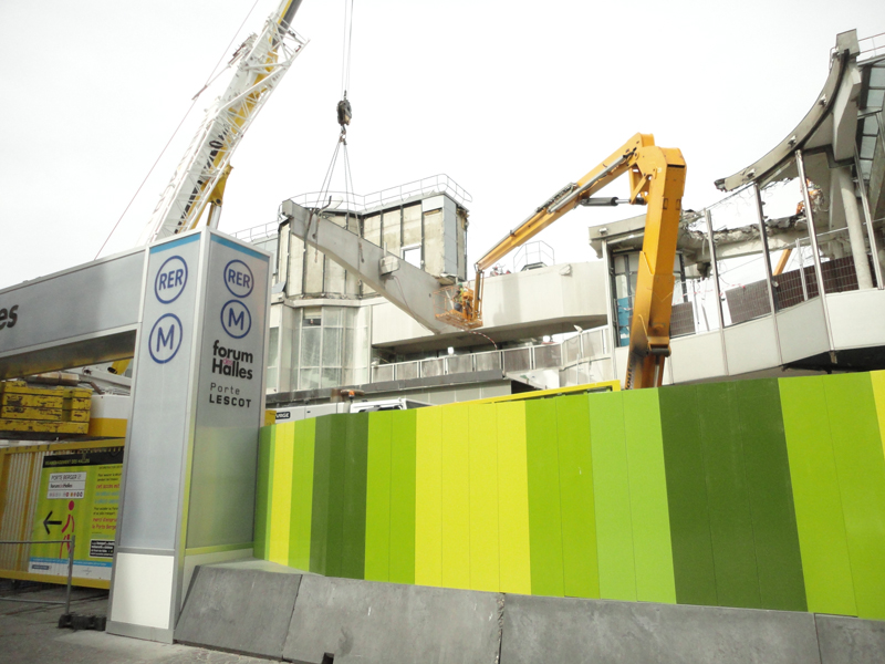 Le chantier du Forum des Halles