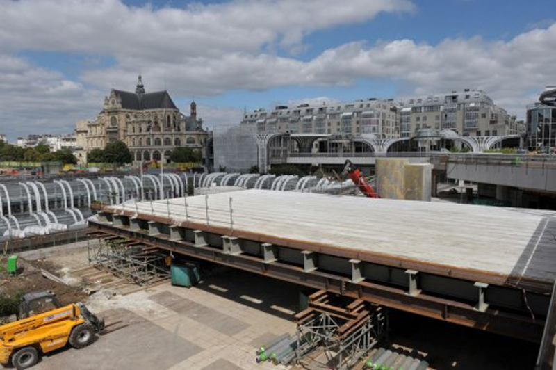 Photo officielle démolition des Halles