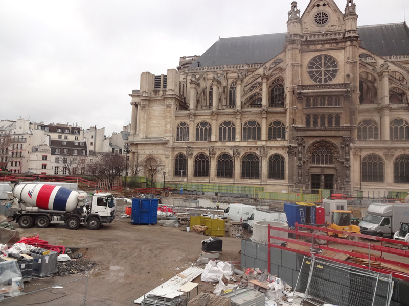 Forum des Halles en chantier