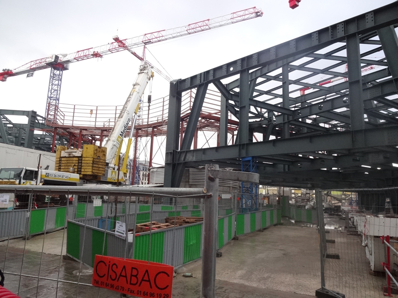 Construction du forum des Halles