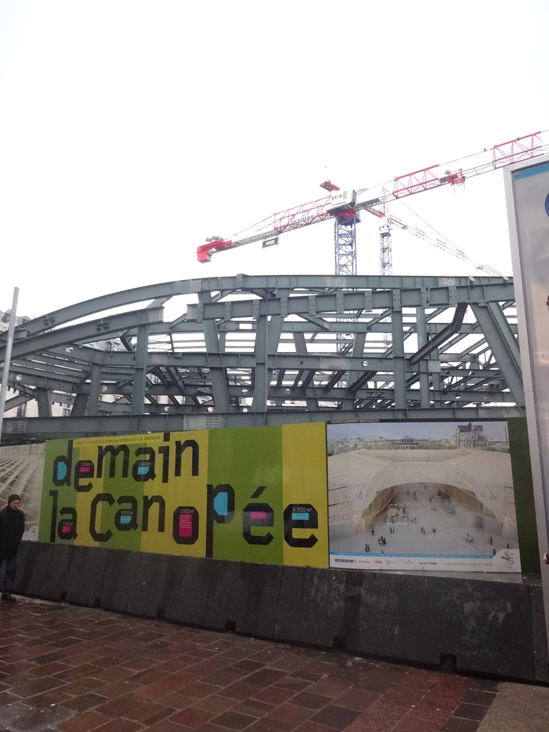 Construction du forum des Halles