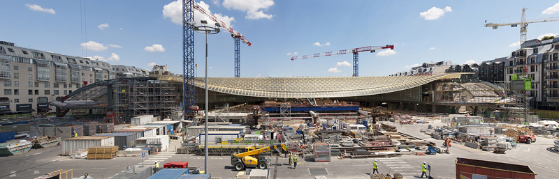 Photos officielles du chantier des Halles