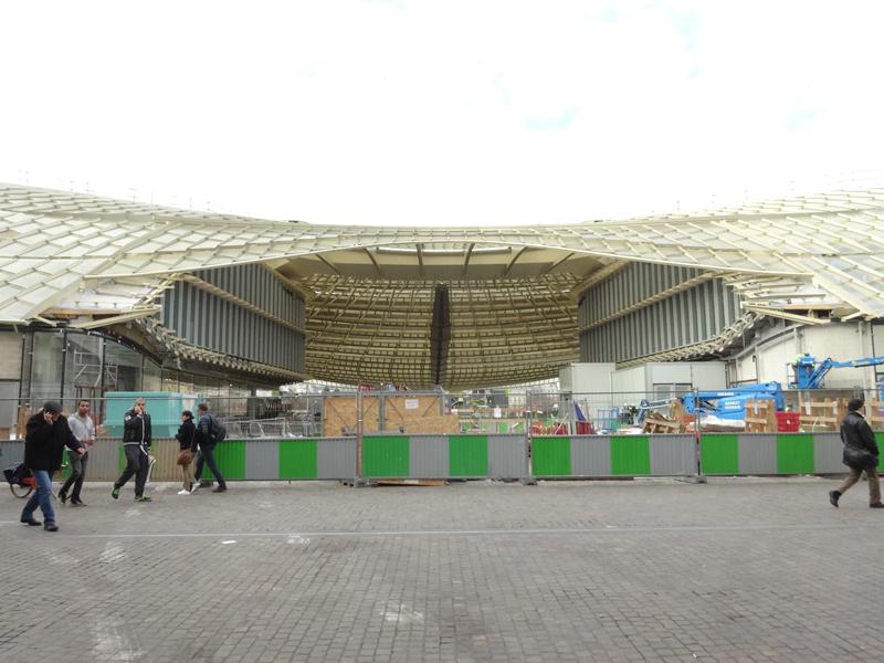 Chantier de construction du Forum des Halles de Paris Janvier 2016