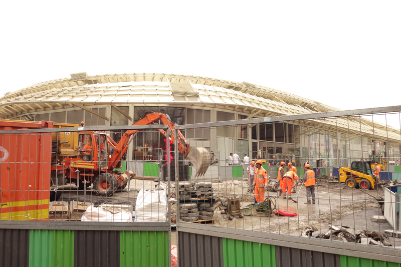 Le chantier du Forum des Halles Mai 2016
