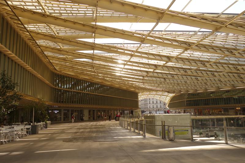 Travaux aux Forum des Halles en Août 2016