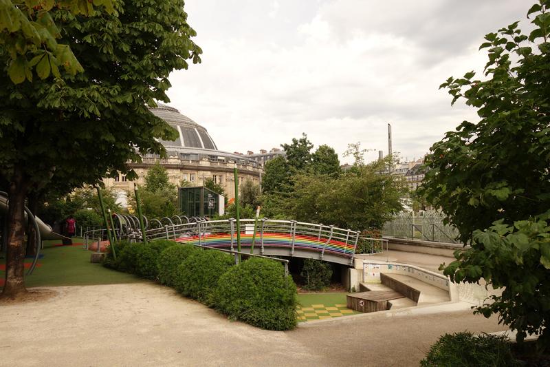 Travaux des jardins du Forum des Halles